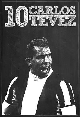 Carlos Tevez Art Print
