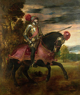 Horseback Painting - Carlos V At The Battle Of Muhlberg by Titian