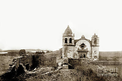 Photograph - Carmel Mission By A.j. Perkins 1880 by California Views Mr Pat Hathaway Archives