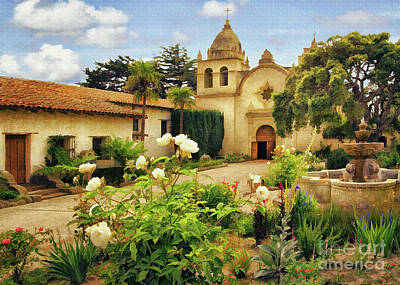 Photograph - Carmel Mission Courtyard by Sharon Foster