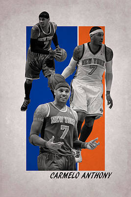Knicks Photograph - Carmelo Anthony New York Knicks by Joe Hamilton