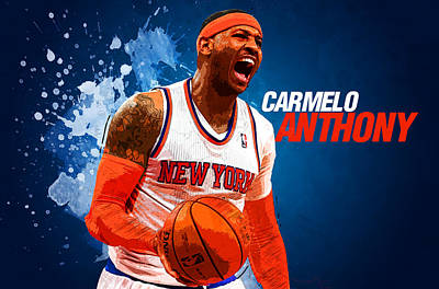Kobe Digital Art - Carmelo Anthony by Semih Yurdabak