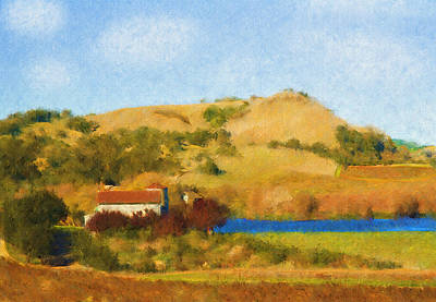 Napa Digital Art - Carneros Valley by Mick Burkey