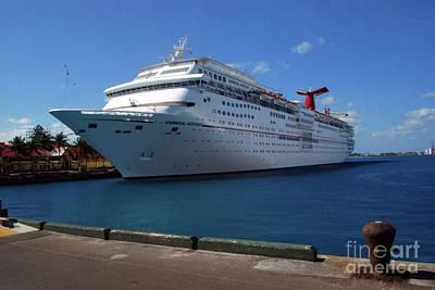 Photograph - Carnival Cruise Ship by Gary Wonning