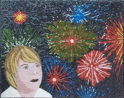 Mosaico Mixed Media - Carnival by Liza Wheeler