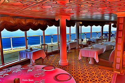 Digital Art - Carnival Pride David's Steak House by Stephen Younts