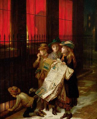 Begging Painting - Carol Singers by Augustus Edward Mulready