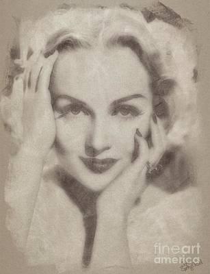 Carole Lombard, Vintage Hollywood Actress Art Print