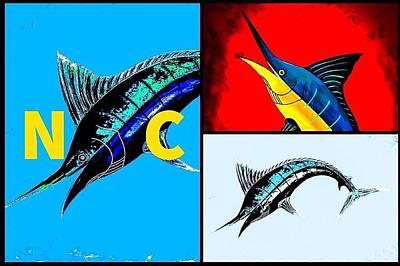 Wall Art - Painting - Carolina Blue Marlin  by Barry Knauff