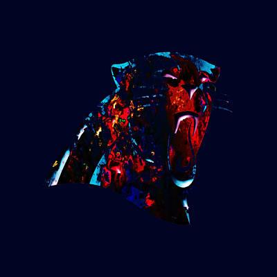 Atlanta Falcons Painting - Carolina Panthers by Brian Reaves