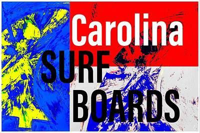 Wall Art - Painting - Carolina Surfboards  by Barry Knauff