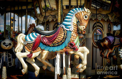 Photograph - Carousel Horse by Kathy Baccari