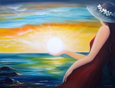 Colorful Painting - Carpe Diem, Sunset Sunrise by Gina De Gorna