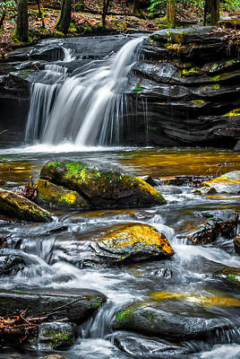 Carreck Creek Falls Art Print by Optical Playground By MP Ray