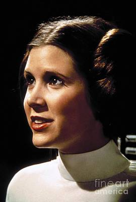 Star Wars Photograph - Carrie Fisher As Star Wars Character Princess Leia  by The Titanic Project