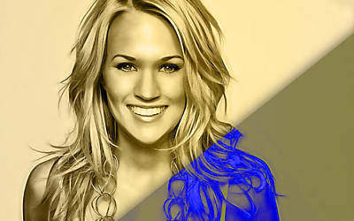 Mixed Media - Carrie Underwood Collection by Marvin Blaine