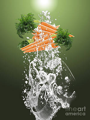 Carrot Mixed Media - Carrot Splash by Marvin Blaine