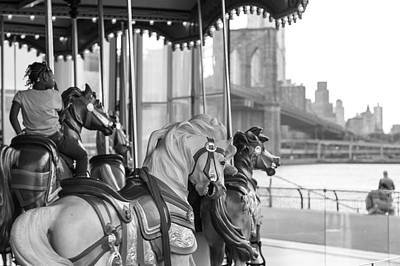 Carrousel Nyc Art Print
