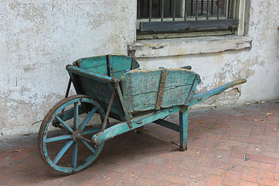 Wooden Wheels Photograph - Cart For Sale by Suzanne Gaff