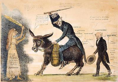 Cartoon: Panic Of 1837 Art Print