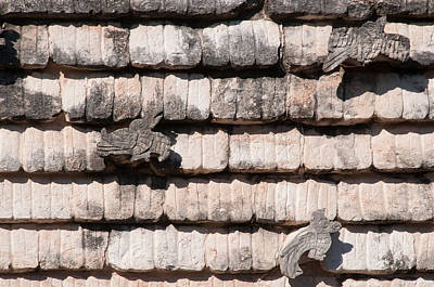 Digital Art - Carved Bird Detail In Uxmal by Carol Ailles