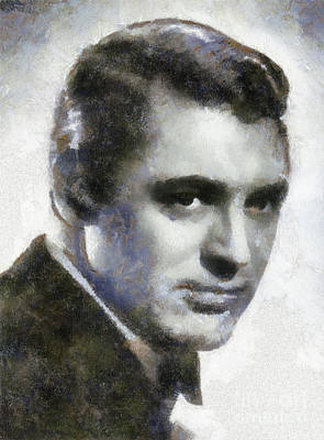 Cary Grant Painting - Cary Grant By Sarah Kirk by Sarah Kirk