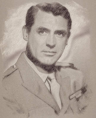 Celebrities Paintings - Cary Grant by Esoterica Art Agency
