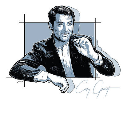 Digital Art Royalty Free Images - Cary Grant Royalty-Free Image by Greg Joens