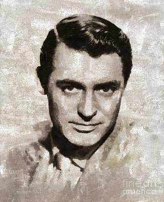 Cary Grant Painting - Cary Grant, Vintage Hollywood Actor by Mary Bassett