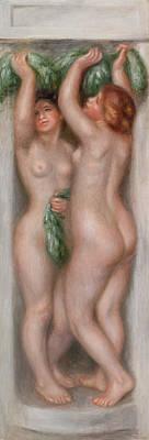 Penis Painting - Caryatids by Pierre-Auguste Renoir