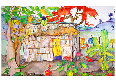 Flamboyant Tree Painting - Casa De Palma by Brenda Tucker