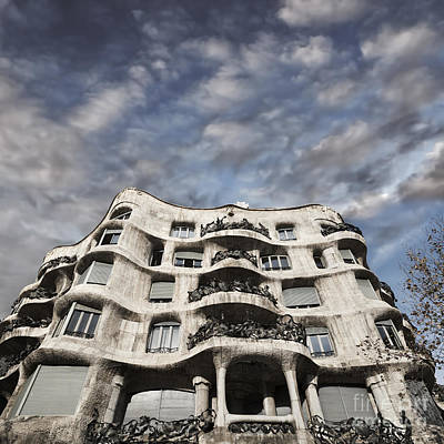 Gaudi Photograph - Casa Mila - Barcelona by Rod McLean