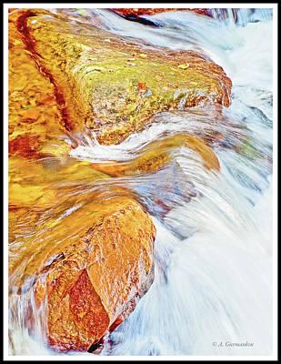 Photograph - Cascade, Boulder-filled Stream, Autumn by A Gurmankin