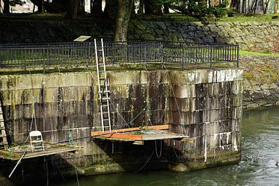 Photograph - Fishing Platforms In Cascade Locks  by Tom Cochran