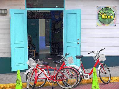 Photograph - Casco Bikes by Herb Paynter