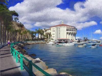 Catalina Island Digital Art - Casino Runner by Snake Jagger