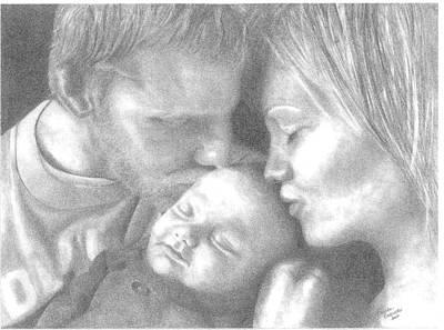 Cassiday Family 1  Art Print by Rhonda  Rodericks