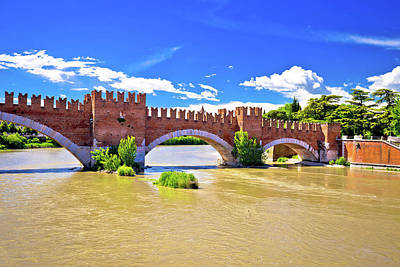 Photograph - Castelvecchio Bridge On Adige River In Verona by Brch Photography