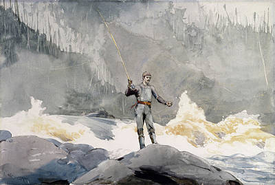 Winslow Homer Drawing - Casting by Winslow Homer