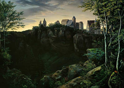 Painting - Castle Hohnstein In Saxon Switzerland by Ernst Ferdinand Oehme
