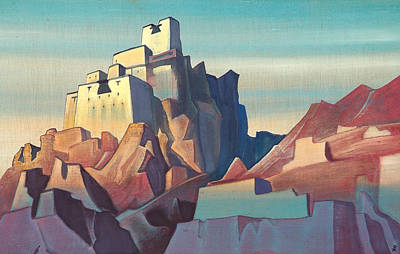 Chateau Painting - Castle In Ladakh by Nicholas Roerich