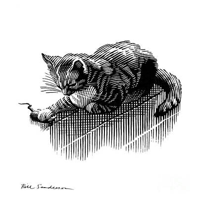 Cat And Mouse, Artwork Art Print