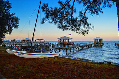 Photograph - Cat And Piers In Fairhope by Michael Thomas