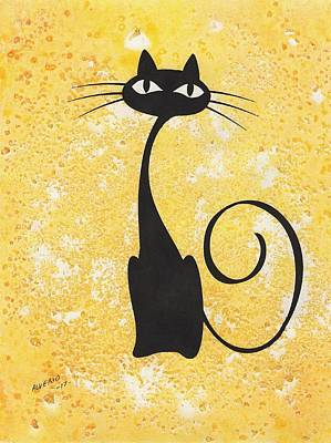 Painting - Cat by Edwin Alverio