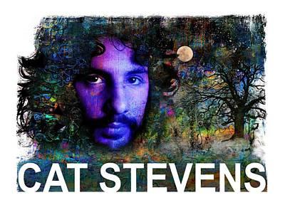 Cat Stevens Art Print by Mal Bray