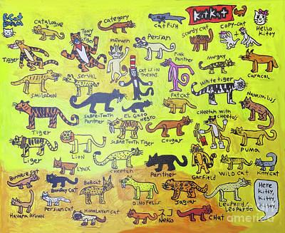 Painting - Cat Styles by Brandon Drucker