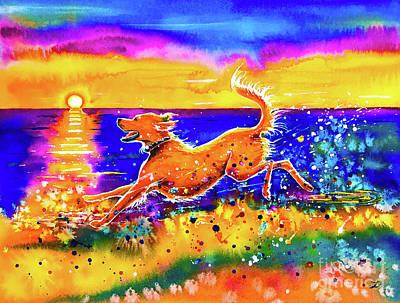 Painting - Catching The Sun by Zaira Dzhaubaeva