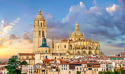Photograph - Catedral De Santa Maria De Segovia, Castilla Y Leon, Spain by JR Photography