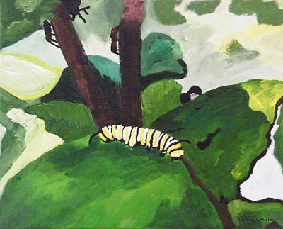 Painting - Caterpillar by Kimmary MacLean