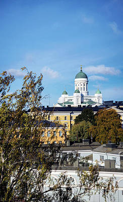 Spot Of Tea Rights Managed Images - Cathedral Landmark And Central Helsinki View In Finland Royalty-Free Image by JM Travel Photography